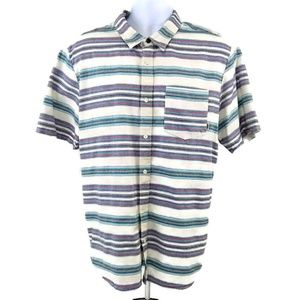 Vans Off The Wall Men's Shirt Stripe Button Up